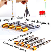 "1Pcs PH2 1/4"" Hardness Magnetic 65MM 110MM Cross Head Screwdriver Bit Double Head Electric Screwdriver Set Phillips Screw Driver"