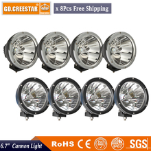 WholeSale 8pcs 7inch 45w Led Driving Light Spot Fog Lamp For Offroad Machinery 4wd Atv Suv Use Truck Headlight 4x4 cannon light