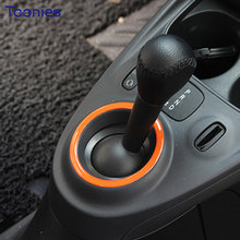 New Design 3D Car Sticker Smart Fortwo Forfour Auto Accessories Glue Decal Car Gears Decoration Ring Cover 4 Colors Car Styling(China)