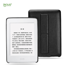 Cheap Hot New Lenuo PU Holder Case For Amazon Kindle paperwhite 1 2 3 Soft PU case bag Mobile Phone back Holder Shelf Stand