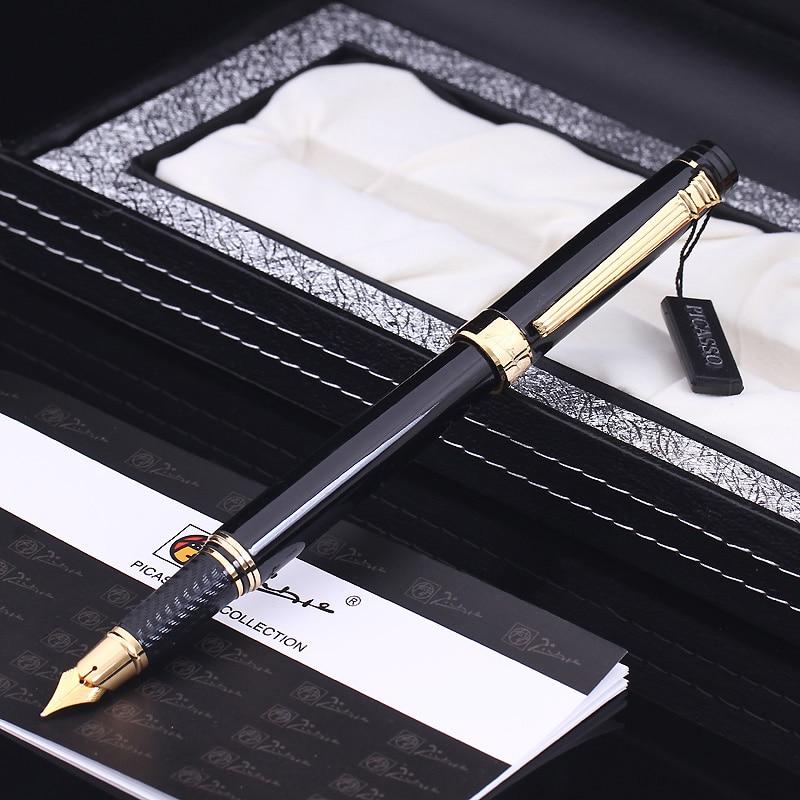 Pimio 917 0.5mm Metal Iridium Nib Fountain Pen with Original PU Gift Box Inking Pens Christmas Gift Card Free Shipping<br>