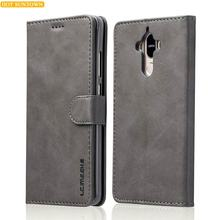 Huawei Mate 9 Case Luxury Leather Wallet Phone Bags Huawei Mate9 Cases Mobile Phone Shell Stand Card Slot Photo Frame Flip Cases(China)