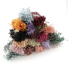 200pcs 3mm Mini Stamen Handmade Artificial Flowers For Wedding Party Home Decoration DIY Christmas Scrapbook Accessories(China)