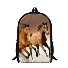 Personalized childrens animal horse backpacks for teen boys,mens day pack pack, plush horse pattern cool bookbags for kids child