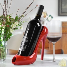 4 colors High Heel Shoe Wine Bottle Holder Wine Rack Practical Sculpture Wine Racks Home Decoration Accessories top quality(China)