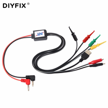 DIYFIX Power Data Cable DC Power Supply Current Test Wire Cable with USB Output for iPhone Samsung Mobile Phone Repair Tools(China)