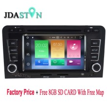 2DIN Android 6.0 Car DVD Player For AUDI A3 S3 2002-2013 Octa Core 2GB Ram 32GB Flash Multimedia GPS Navigation Auto Radio audio