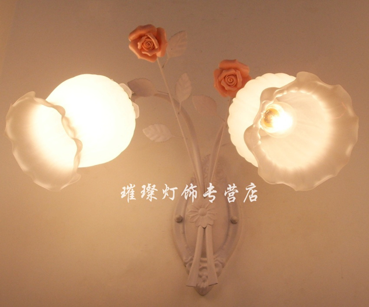 American pastoral berth lamp, wrought iron. The living room wall lamp act the role ofing. Lens headlight <br><br>Aliexpress