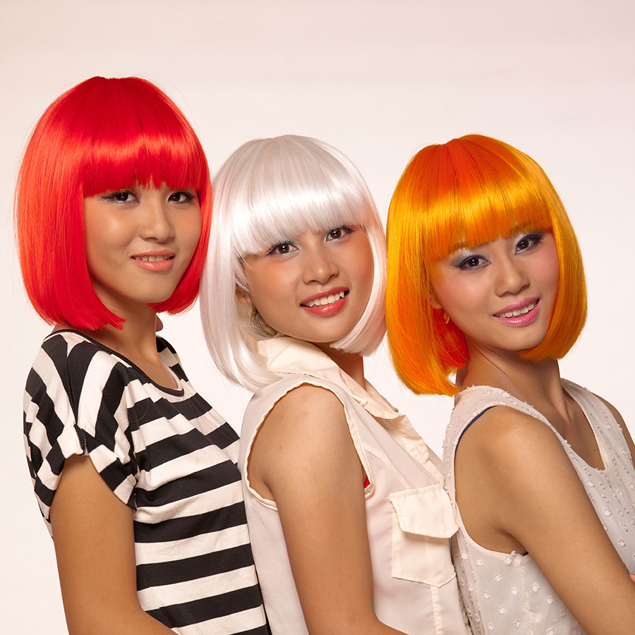 Red White Orange Blonde Brown Black Cosplay Wigs Short Bob Wig with Bangs Synthetic Pelucas Perruque Peruca Pruiken Peruk<br><br>Aliexpress