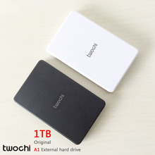 Free shipping 2016 New Style 2.5 inch Twochi A1 USB2.0 HDD 1TB Slim External hard drive Portable Storage disk wholesale Price