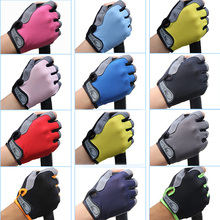 Outdoor Sports Half Finger GEL Gloves Men Women Gym Fitness Weight Lifting Workout Jogging Running Exercise Training Fingerless(China)