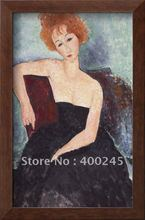 Abstract oil painting nude woman oil painting Red Headed Woman by Amedeo Modigliani High quality+100%handmade+Free shipping(China)