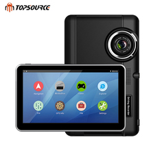 TOPSOURCE Car DVR GPS Navigation 7 inch Android Bluetooth wifi fhd 1080p Camera Recorder Vehicle GPS 1080P record free maps(China)