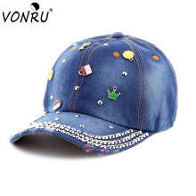 VONRU High Fashion DIY Accessories Baseball Cap Women Casual Snapback Hat for Men Casquette Homme Travel Shopping Custom Gorras