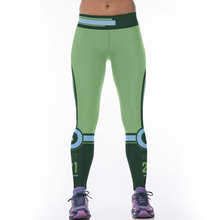 JESSINGSHOW Hot Women Sports Legging Leggins American Football Team Pants 3D Printed Green Running Jeggings Fitness Workout Pant(China)