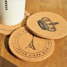 6Pcs Round Cork Coasters Tea Drinks Coasters Cup Mats Pads Home Vintage Cup Coaster Modern Kitchen Accessories