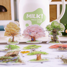 20pcs Creative kawaii self-made spring tree plant flower stickers/ beautiful/decorative sticker /DIY craft photo albums