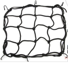 Accessories Black Motorcycle Bike ATV Bungee Tank Helmet Web Cords Mesh Cargo Net Hook(China)