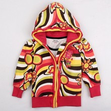 Nova Girls child winter outwear baby coats embroidery cartoon character spring/autumn long sleeves cotton jacket for girls F4356