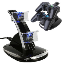 Dual USB Powered Charging Dock Stand Holder Support Charger For Sony PS3 Game Controller Joystick with LED Light Indicator Dock