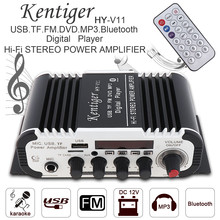 Buy Kentiger 2CH HI-FI Bluetooth Car Audio Power Amplifier FM Stereo Radio Player Support SD USB DVD MP3 Input Auto Motorcycle for $21.61 in AliExpress store