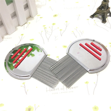 Terminator Lice Comb Nit Free Kids Hair Rid Headlice Superdensity Stainless Steel Metal Teeth Remove Nits(China)