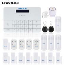 OWSOO APP IOS Android GSM Wireless Home Alarm Security System GSM SMS House Security Burglar Intruder System With Remote Control(China)