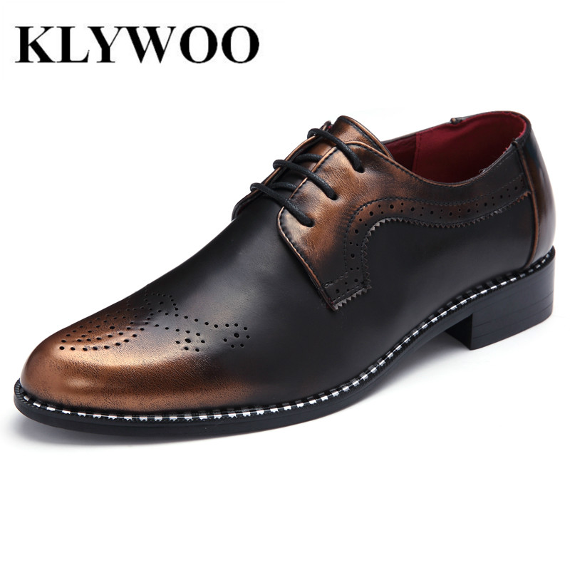 Fashion Brogue Men Oxfords Shoes Leather Classic Business Shoes Flats For Mens Dress Shoes Causal Breathable Zapatos Hombre<br>