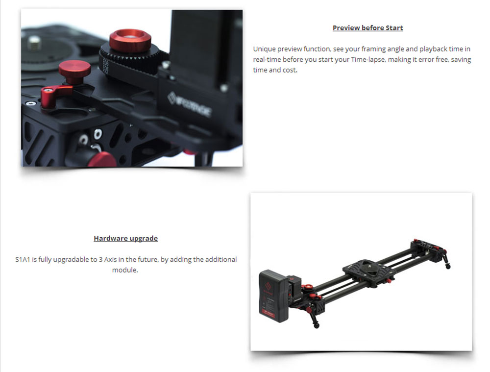 iFootage wireless motorized controller timelapse Single Axis System S1A1 for Shark Slider S1 camera video dolly track slider 004