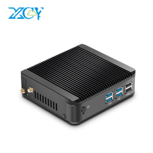 XCY Fanless Mini PC Celeron 3205U 3215U Windows 7/8/10 Supported HTPC HDMI VGA Dual Display Nettop PC Thin Client WiFi(China)