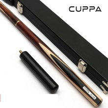 Cuppa 3/4 Snooker Cues Stick Pool Cue Maple Shafts Billar stick 9.8mm/11mm Tip With Snooker Cue Case Set(China)