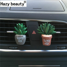 HazyLovely car plants vehicle air conditioning outlet clip decorative car fragrance Car Air Freshener Car-styling 100 Original(China)