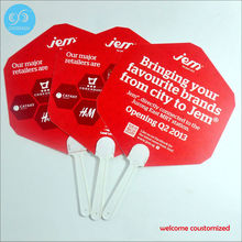 wedding advertising fan / custom pp plastic hand fan with  your own company brand logo