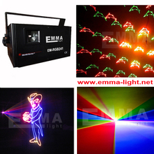dmx ilda 2000mW rgb full color beam animation gobo animation programmable laser logo projector with SD card interface(China)