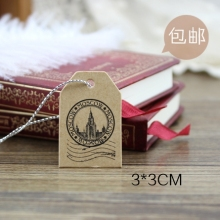 500PCS/LOT Mini Moscow Post Kraft Paper Hang Tags For Clothing Garment Tags Vintage Craft Tags Jewelry Gift Tags