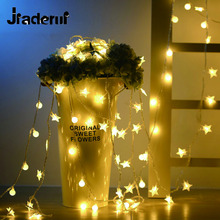 Jiaderui 5M 40 LED Star String Fairy Lights for Wedding Decorations Home Outdoor Xmas Tree Decorations Christmas Lights Indoor(China)