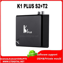 K1 Plus S2 T2 10pcs Android TV Box CAM Amlogic S905 Quad Core Hybrid Set Top Box k1 plus s2 dvb-t2 android 1G 8G Kodi H.265