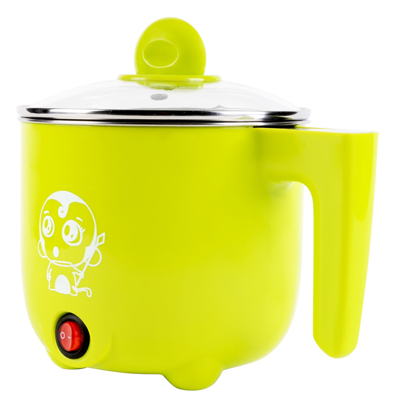 1L Capacity Household Electric Cooker Heating Pot Steamer and Stewer with Egg Rack Electric Kettle Easy Operating<br>