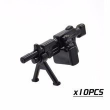 10pcs/lot New Arrival POGO Blocks World War Military M16 Squad Automatic Weapon Plastic DIY Part Building Toy for Children