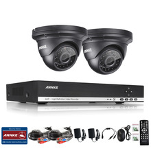 ANNKE 4CH 1080N 960P 1.3 MP AHD HDMI DVR Video Record 2 Outdoor CCTV Security Camera System