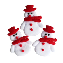 20PCS/LOT Merry Christmas decoration snowman applique Christmas ornament diy craft candy gift box bags accessory home(China)
