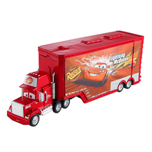 Disney Pixar Cars Car 3 McQueen Uncle Mack Container Truck Diecast Plastic Child Toys Birthday Christmas Gift For Kids Cars Toys(China)