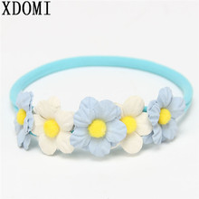New Design Cute Baby Girls Boys Floral Headband For Children Elastic Headwear 0-2 Years Infant Toddler Hairband Hair Accessory