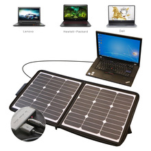 Solar Charger with Zipper 50W Sunpower Solar Panel Laptop Charger for Laptop, NoteBook, Tablet, Cell Phone, iPhone and More(China)