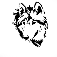Ferocious Animal Wolf Totem Logo Car Sticker for Motorhome Minicab Motorcycles Laptop Car Decor Waterproof Vinyl Decal 10 Colors