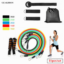 Buy 11pcs/set Resistance Bands Yoga Pull Rope Fitness Exercises Workout Bands Crossfit Latex Tubes Expander Elastic Body Training for $13.99 in AliExpress store