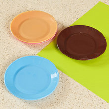 4Pcs Creative pratos Tableware flat plate saucer seeds snack food-grade plastic snack dish pratos Candy colors melamine plates