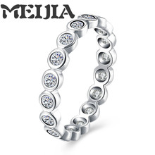Authentic 100% 925 Sterling Silver Love  Forever More Stackable Ring Clear CZ Compatible With Pandora Jewelry Gift