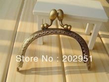 10pcs/lot  DIY 9.5cm Bud antique Bronze Metal Purse Frame Handle for Bag Sewing Craft  wholesale free shipping