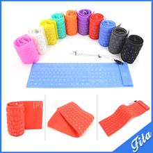 Colorful 109 Keys USB Silicone Rubber Waterproof Flexible Foldable Keyboard For PC